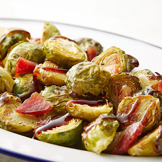 Grilled Brussels Sprouts with Bacon and Balsamic.