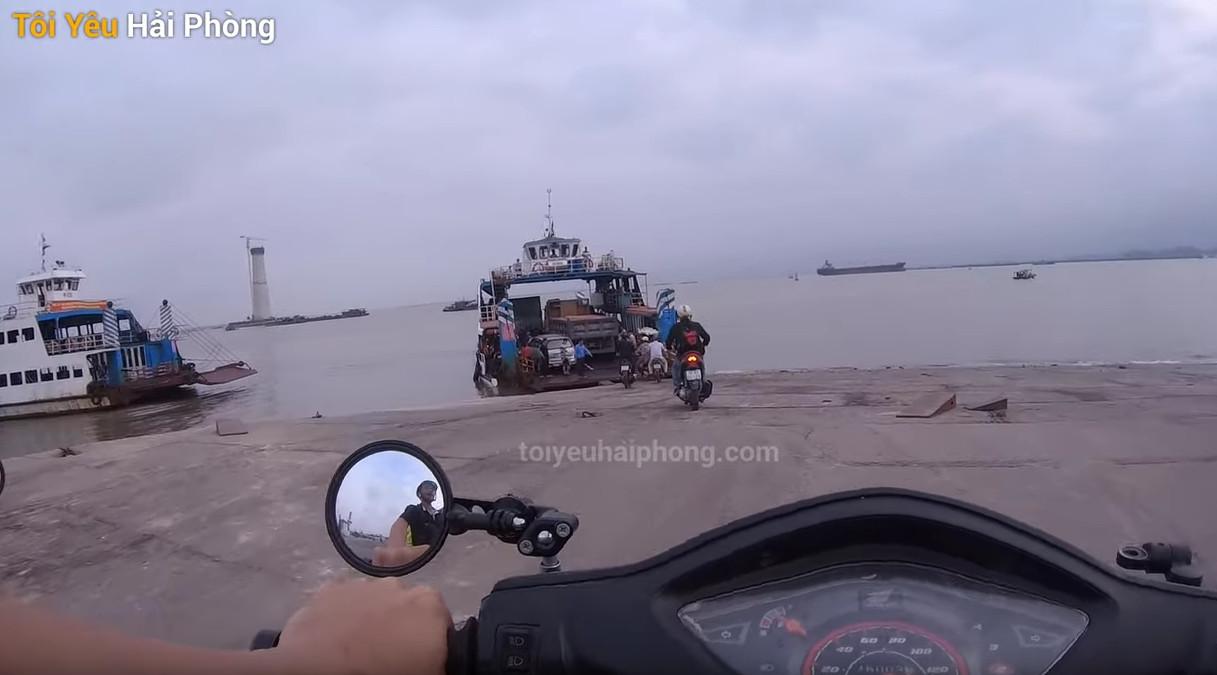 Đường đi xe máy bến phà gót từ Hải Phòng tới đảo Cát Bà