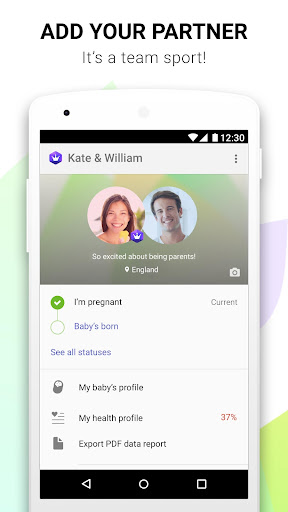 Pregnancy Tracker & Baby Countdown - Glow Nurture app (apk) free download for Android/PC/Windows screenshot