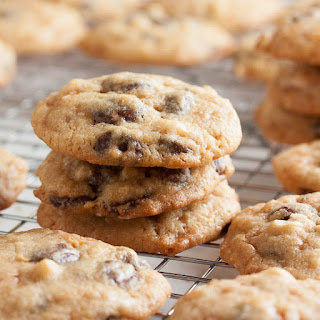 Chewy Peanuty Chocolate Chip Toffee Cookies.