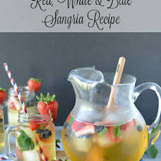 Patriotic Red, White & Blue Sangria.
