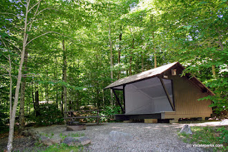 Photo: Such a pretty lean to at Smugglers Notch State Park