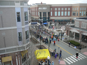 """Photo: View of """"The Square' taken from Isham Garage 'Webster Walk' leads to the right from Barnes&Noble"""
