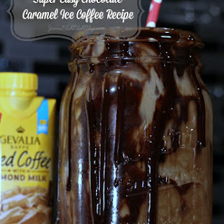 Super Easy Chocolate Caramel Ice Coffee