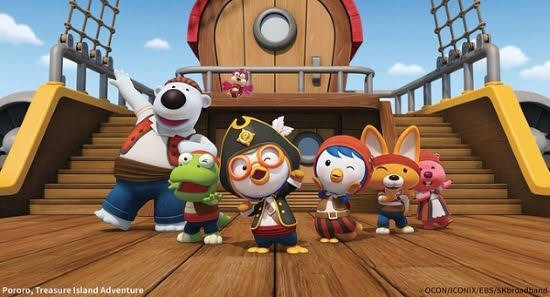 Korean children's President Pororo's movie 'Pororo 5: Treasure Island Adventure' was released and ranked #2