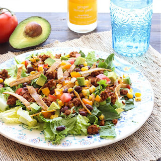 Taco Salad with Chickpea 'Beef'