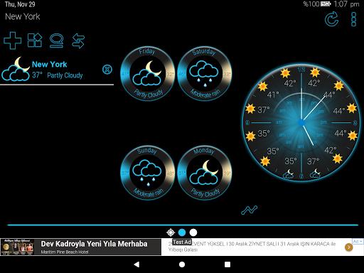 Weather Rise Clock 30+ Widgets 4.2.2 screenshots 12