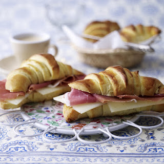 Serrano and Manchego Croissant Sandwiches.