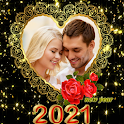 New year Greetings photo frames 2021 icon