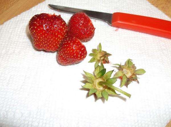 Wash and hull berries.
