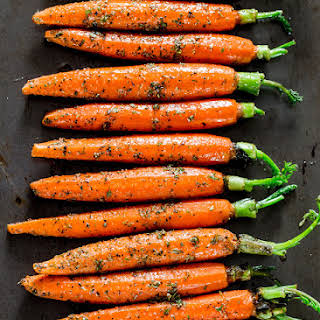 Garlic and Herb Roasted Carrots.