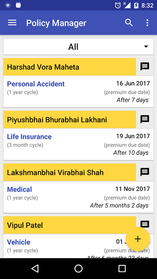 Policy Manager for Insurance Agent / Adviser- screenshot