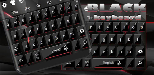 Stylish Black Keyboard app (apk) free download for Android/PC/Windows screenshot