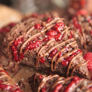 Double Chocolate Raspberry Scones