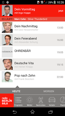 radioBerlin 88,8 - screenshot