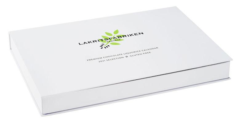 Lakritskalender glutenfri chokladdragerad lakrits 2021 - Lakritsfabriken i Ramlösa