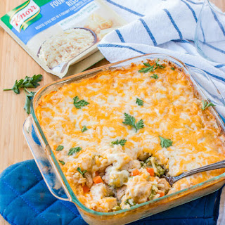 Cheesy Chicken and Rice Casserole.