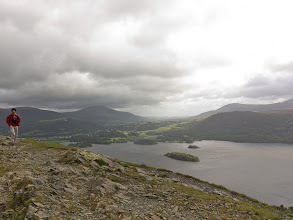 Photo: The trail goes up and along the ridge leading to the Catbells summit. Spectacular views on both sides.