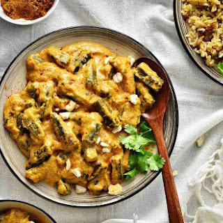 Shahi Bhindi Recipe in Cashew Nut Gravy (Okras in Cashew Nut Curry).