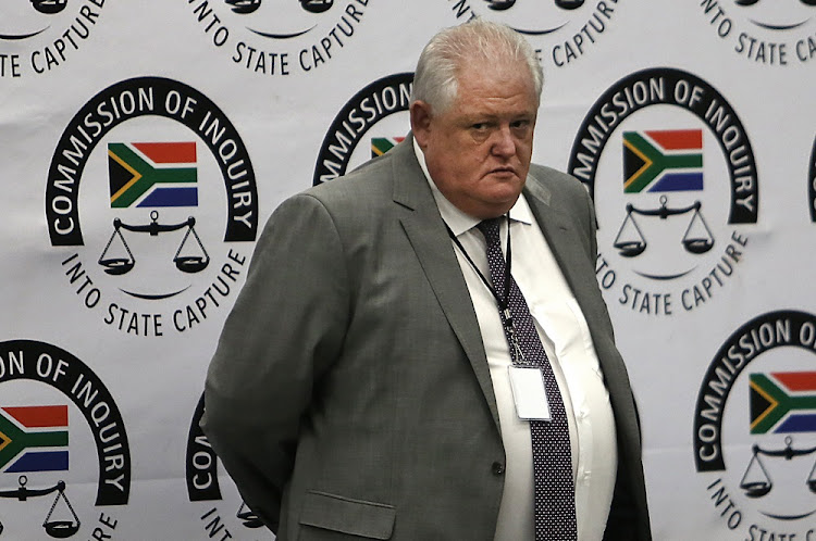 Former Bosasa COO Angelo Agrizzi takes the stand on January 22 2019. Picture: ALON SKUY