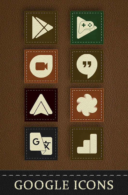 Texture Leather - Icon Pack Theme
