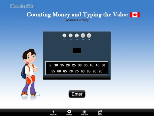 Canadian Counting Money and Typing the Value Lite 1.1 screenshots 1