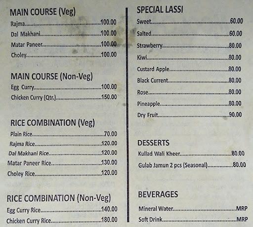 Moolchand Parantha menu 1