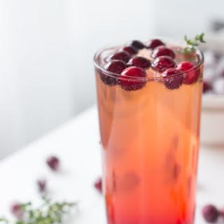 Cranberry Thyme Sparkler