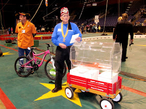 Photo: Mike Wallen in charge of Wal*Mart's bike donations