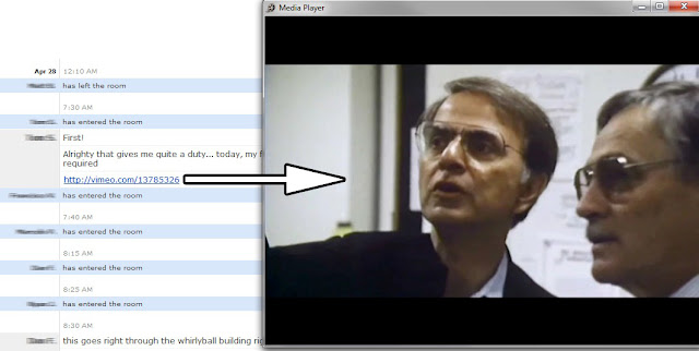 Video Links in a New Media Player Window