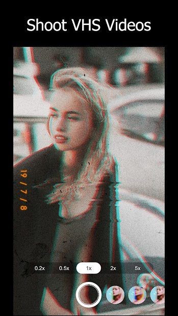 90s - Glitch VHS & Vaporwave Video Effects Editor Android App Screenshot