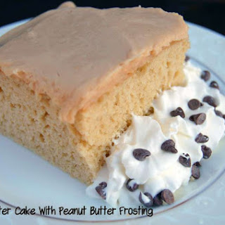 Peanut Butter Cake with Cream Cheese Peanut Butter Frosting
