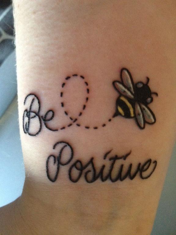 Honey Bee Tattoo quote