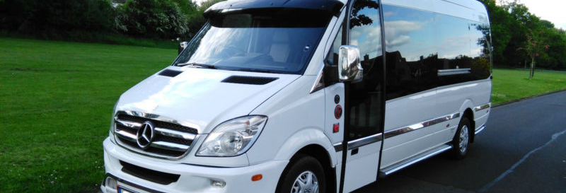 White Mini Bus For Hire
