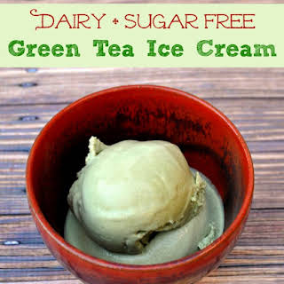 Dairy + Sugar Free Green Tea Ice Cream.