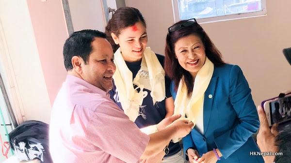 हङकङ र मकाउका एनआरएन अध्यक्षद्वारा वि विल राईज फाउण्डेसनको कार्यालय समुद्घाटन
