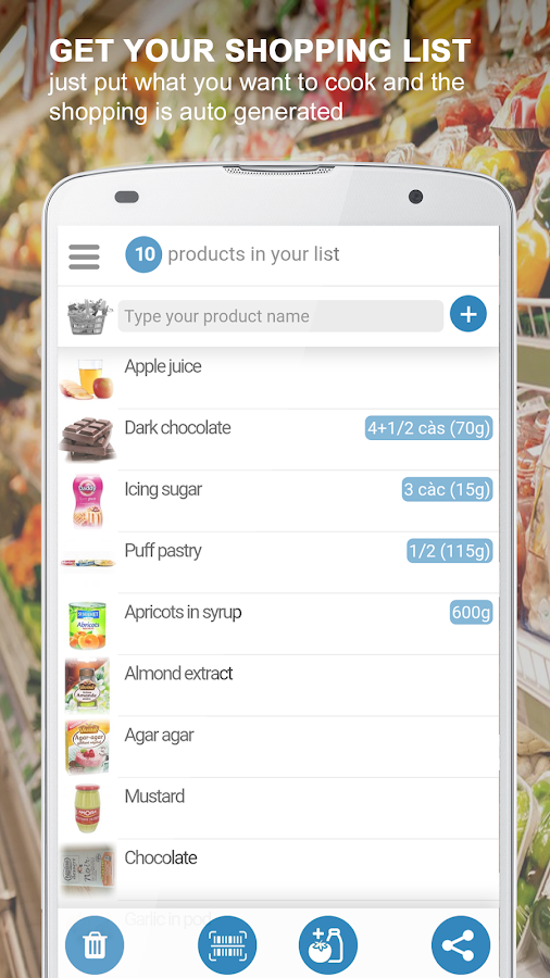Cook your ingredients & Shopping list- screenshot