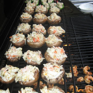 Crab Stuffed Mushrooms.