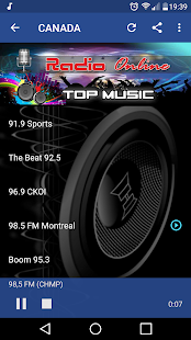Radio 98.5 fm Montreal Screenshot