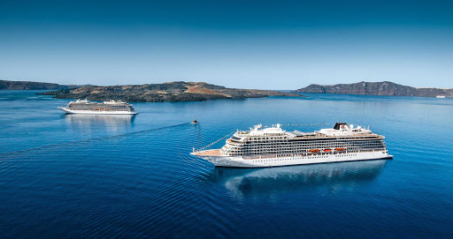 Viking-Sea-and-Viking-Star-meet-in-Santorini.jpg - Viking Sea and Viking Star moored off the island of Santorini, Greece.