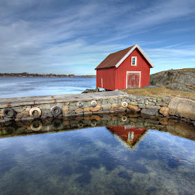 Fishermens cabin.... by Roger Gulle Gullesen - Landscapes Waterscapes