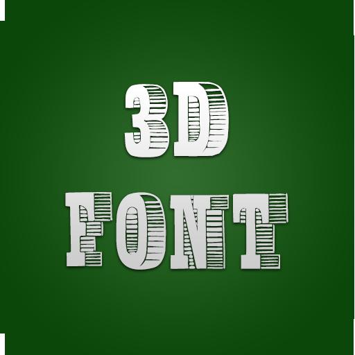 3D Fonts for FlipFont® Plus