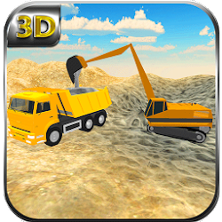 Sand Transporter Truck Driving