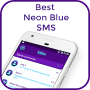 Best Neon Blue SMS icon