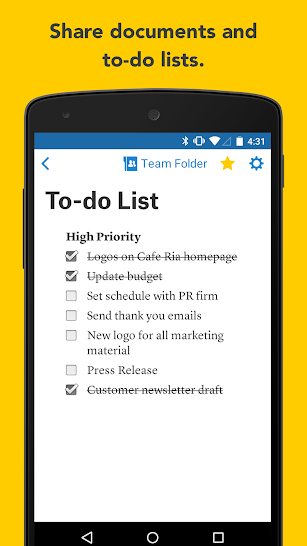 Quip: Docs, Chat, Spreadsheets screenshot for Android