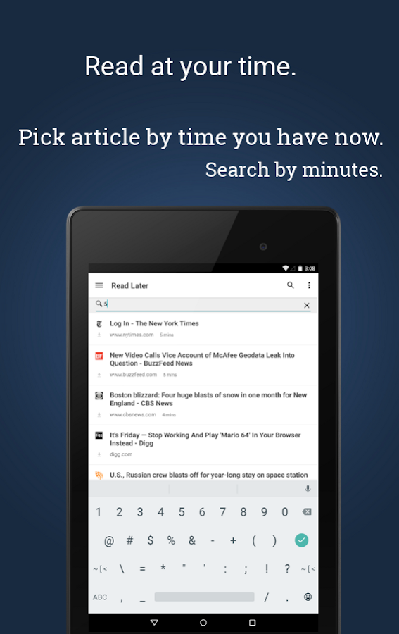 PaperSpan - Read Later Offline - screenshot