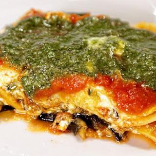Eggplant & Zucchini Lasagna.