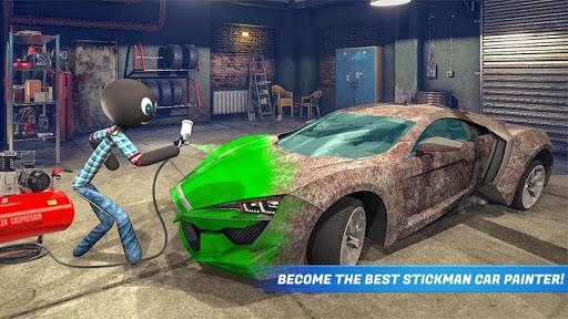 Stickman Car Garage Repair Shop Apk 1