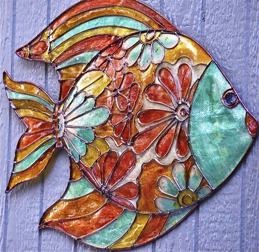 A fish of many colors. by Janet Young- Abeyta - Artistic Objects Still Life ( fish, fish plaque, colorful fish )