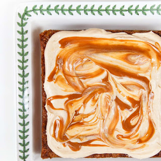 Small Carrot Cake with Caramel-Cream Cheese Frosting
